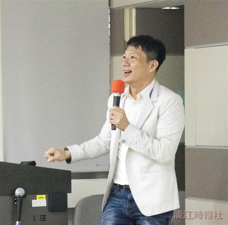大傳系邀遠見雜誌總編輯李建興演講