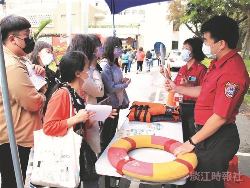 110年度防護團常年訓練,李鴻源教授演講及震災體驗與防災實務演練