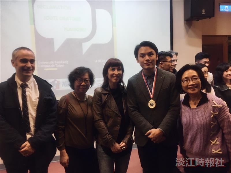 西語林繼祥於「第一屆法語辯誦比賽」奪得首獎