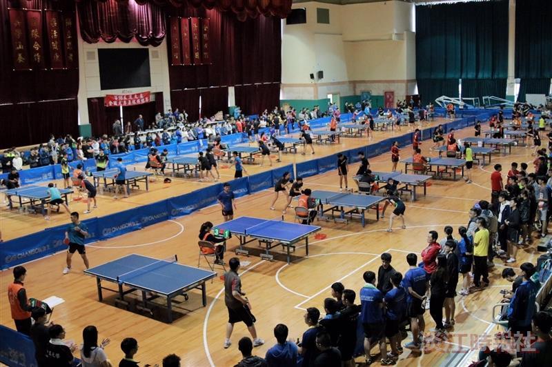 第16屆淡大盃全國大專桌球錦標賽700人到校切磋